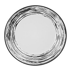 Black Scratch Salad Plate