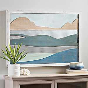 Abstract Waves Framed Wall Plaque