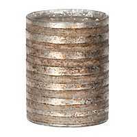 Striped Mercury Glass Votive Holder