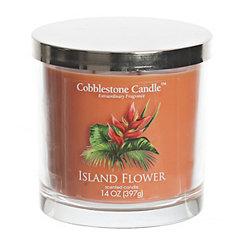 Island Flower Jar Candle