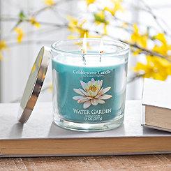 Water Garden Jar Candle