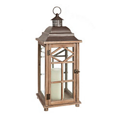 Sullivan Diamond Wood Lantern, 24 in.
