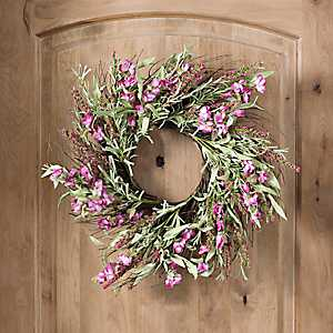 Sweet Pea Heather Wreath