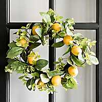 Lemons and Leaves Wreath