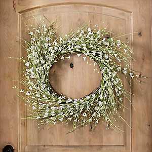 White Berry Foam Wreath