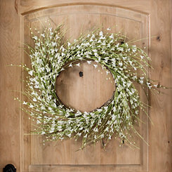 White Berry Foam Wreath
