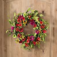 Wildflower Wreath, 22 in.