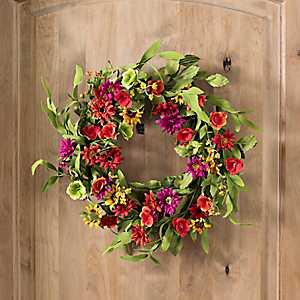 Wildflower Wreath, 22 in.