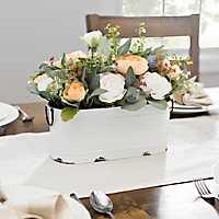 Ranunculus Arrangement in White Tin