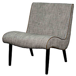 Gray Alexa Mid-Century Accent Chair