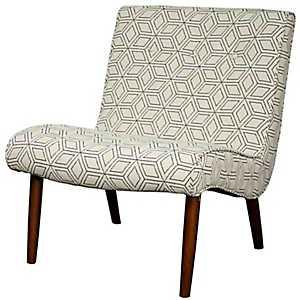 Cream Alexa Mid-Century Accent Chair
