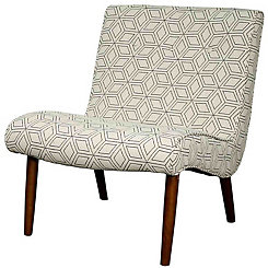 Cream Alexa Mid-Century Accent Chair