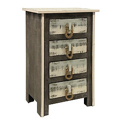Coastal Driftwood 4-Drawer Chest