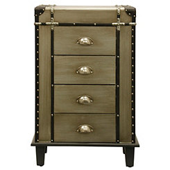 Steamer Trunk 4-Drawer Chest