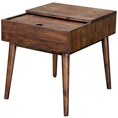 Sliding Top Accent Table with Charging Station
