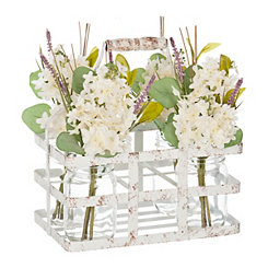 Wildflower Arrangement in Wire Crate, 11 in.