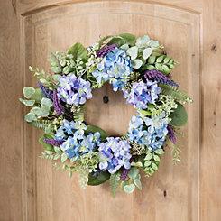Blue Hydrangea Berry Wreath