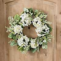 White Hydrangea Berry Wreath