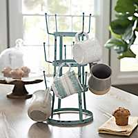 Turquoise Metal Mug Holder