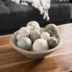 Sage and Cream Mix Dried Orb Set