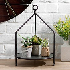 3-Sided Metal Pedestal Tray with Handle