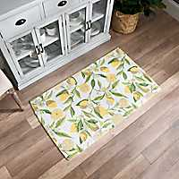 Lemon Braided Cotton Accent Rug