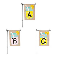 Lemonade Monogram Flag Sets