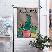 Welcome Cactus Flag Set