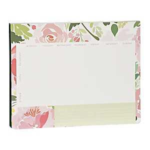 Pink Floral Meal Planner Pad