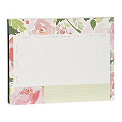 Pink Floral Meal Planner Pad