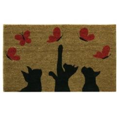 Kittens and Butterflies Doormat