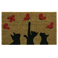 Kittens and Butterflies Doormat