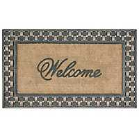 Basketweave Welcome Mat