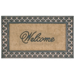 Basketweave Welcome Mat