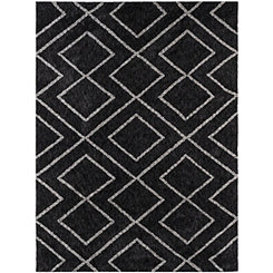 Black Bryn Shag Area Rug, 5x8