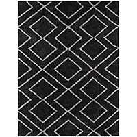 Black Bryn Shag Area Rug, 8x10