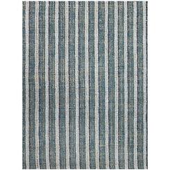 Blue Stripe Tallon Jute Rug, 5x8