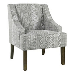 Global Gray Swoop Accent Chair