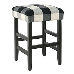 Black Buffalo Check Counter Stool