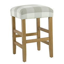 Gray Buffalo Check Counter Stool