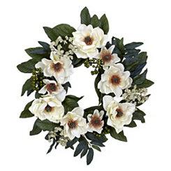 White Magnolia and Berry Wreath