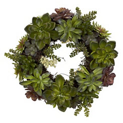 Green Succulent Wreath