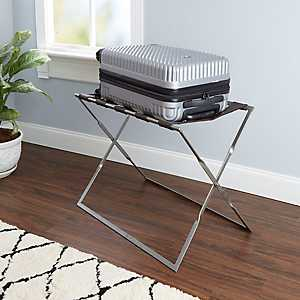 Levi Silver Metal Folding Luggage Rack