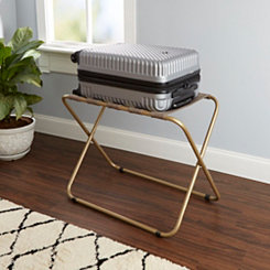 Adam Gold Metal Folding Luggage Rack