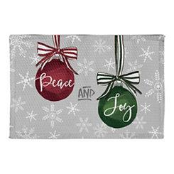 Peace and Joy Ornament Christmas Kitchen Mat