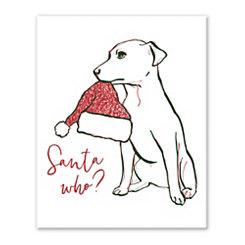 Santa Pup Tabletop Canvas Art Print