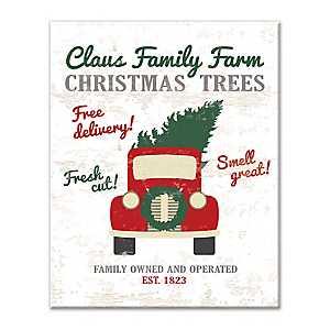 Claus Family Farm Christmas Trees Canvas Art Print