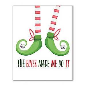 Elves Made Me Do It Canvas Art Print