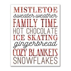 Happy Winter Things Canvas Art Print