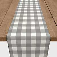 Gray Buffalo Check Table Runner